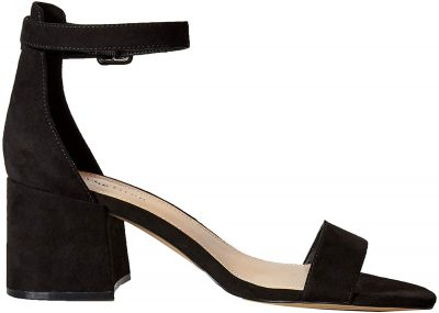Black Microsuede Block Heeled Strappy SandalsBlack Microsuede Block Heeled Strappy Sandals