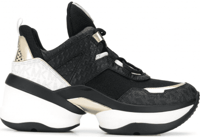 Black Olympia Chunky-Sole Sneakers