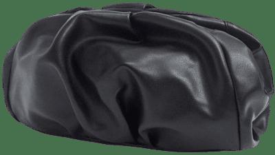 Black Oversized Ruched Clutch Bag-Asos Design