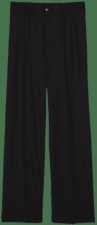 Black Pinstripe Pants-Zara