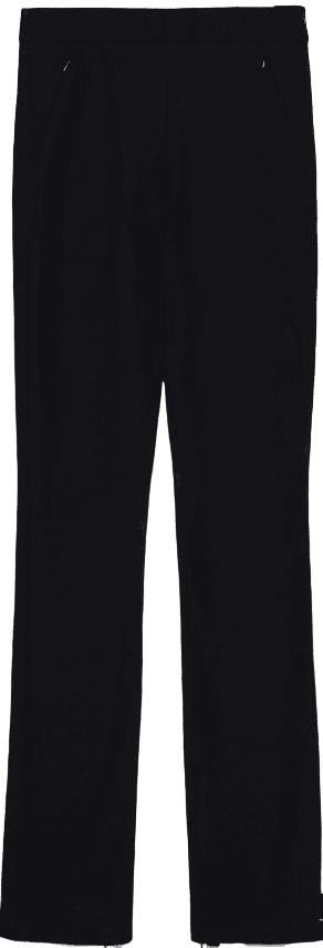 Black Power Stretch Zip Leggings