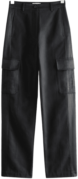 Black Relaxed Cargo Trousers-& Other Stories
