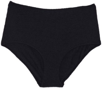 Black Ribbed Maj-Lis High Waisted Bikini Bottom-Monki
