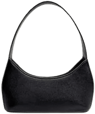Black Rigid Baguette Bag-Mango
