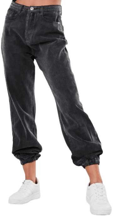 Black Riot Highwaisted Mom Jeans Joggers