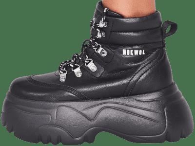 Black Scared Platform Sneakers-Nokwol