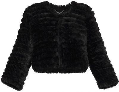 Black Sophiana Faux Fur Jacket