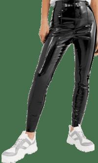 Black Spray On Vinyl Pants-Asos Design