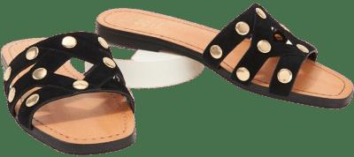 Black Studded Slide Sandals Vazista-Vince Camuto
