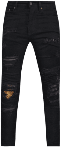 Black Super Skinny Ripped Jeans-Boohoo