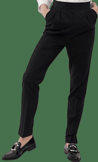 Black Tall High Waist Tapered Pants