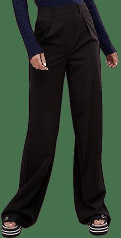 Black Tall Wide-Leg Pants