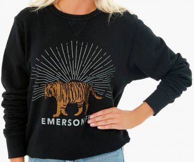 Black Tiger Sweatshirt-Emerson Fry