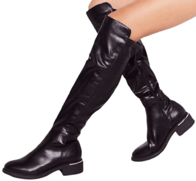 Black Walk On Over-The-Knee Boots-Nasty Gal