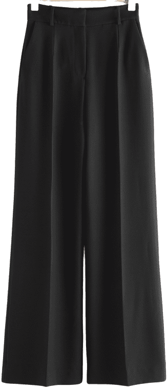 Black Wide Flared Trousers-& Other Stories
