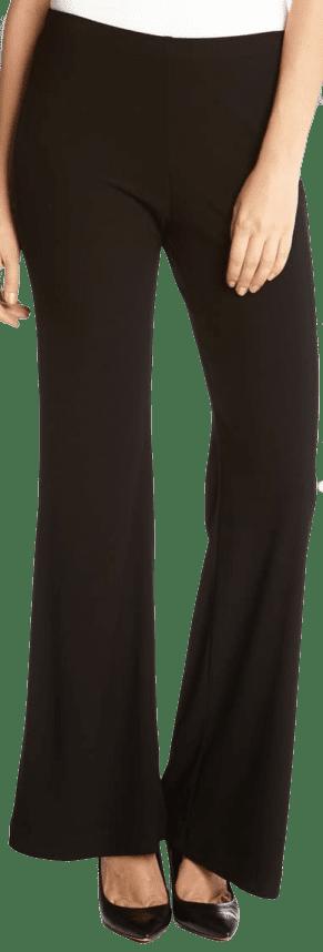 Black Wide Leg Crepe Pants-Karen Kane