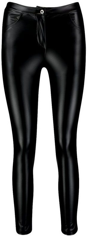 Black Zeta High Waist Faux Leather Leggings-Boohoo