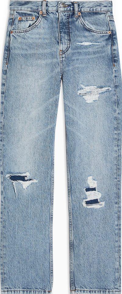 Bleach Rip Straight-Leg Jeans