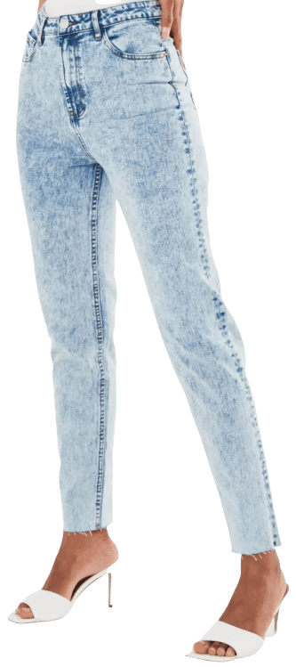 Blue Riot Highwaisted Acid Wash Mom Jeans