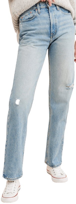 Blue Stacked Straight Jeans-BDG Urban Outfitters