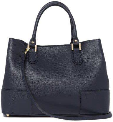 Blue Top Handle Tote Bag-Anna Luchini