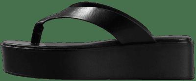 Bonnie Black Leather Sandals-Vagabond