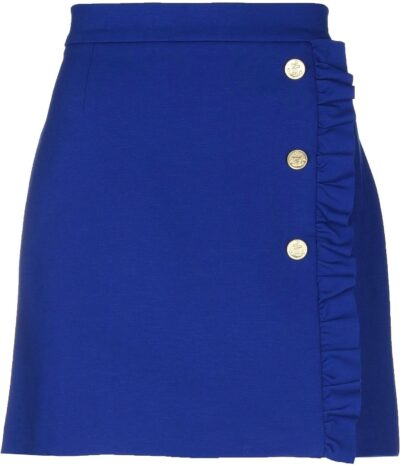 Bright Blue Mini Skirt-JUCCA