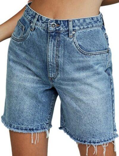 Brunswick Blue Straight Denim Bermuda Shorts-Cotton On