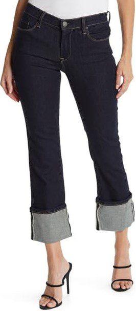 Camden Town Straight Leg Cuffed Hem Jeans-BLANKNYC