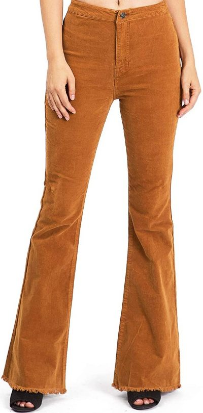 Camel Corduroy High-Rise Pants