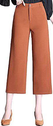 Camel Culottes Dress Pants-Flygo