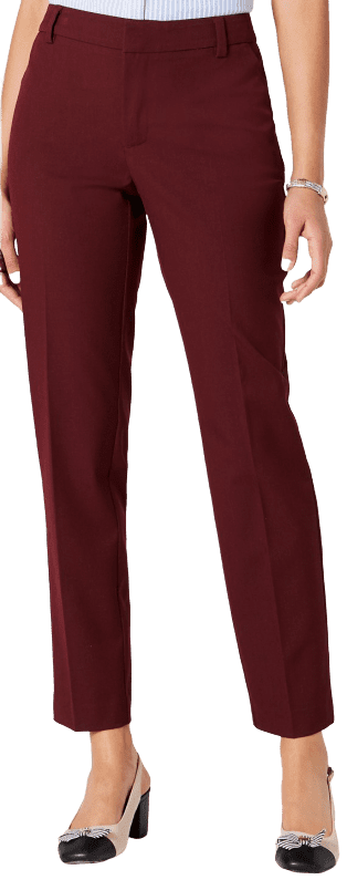 Carriage Red Slim-Fit Ankle Pants-Charter Club