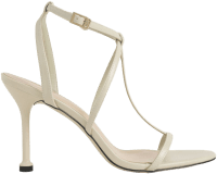 Chalk Strappy Stiletto Heels-Charles & Keith