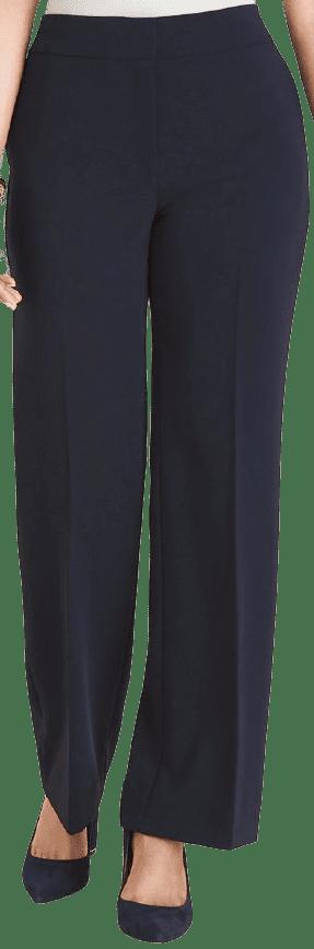 Classic Navy Wide-leg Pants-Chicos
