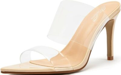 Clear Pointed Toe Heels-Katliu