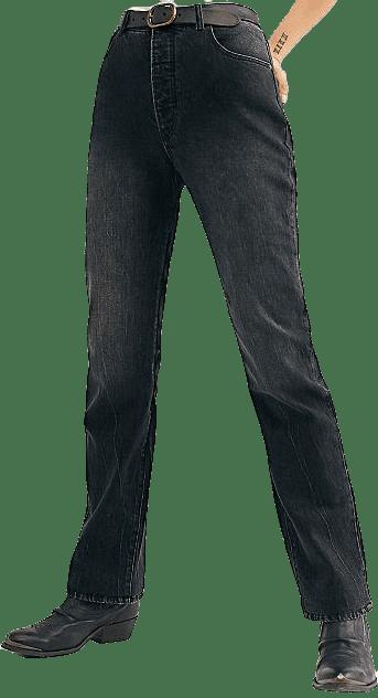 Comfort 80's Black Classic Straight Jeans-Rolla's