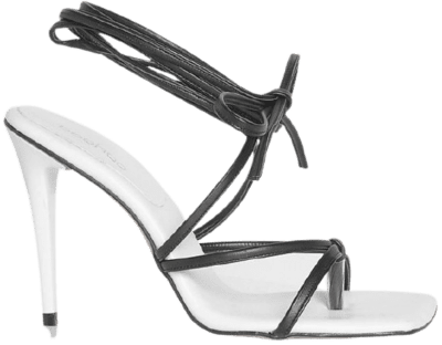 Contrast Strappy Wrap Up Sandal-Boohoo