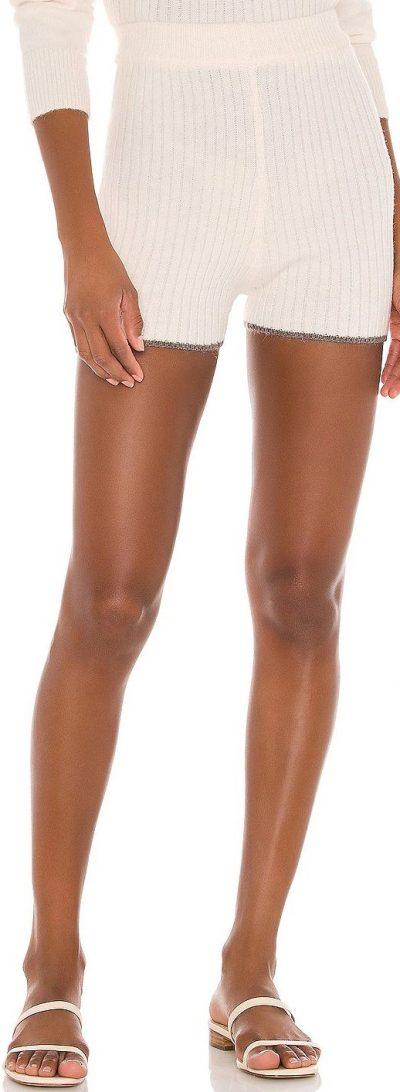 Cream Talin Knit Shorts-Lovers + Friends