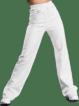 Cream Wide-Leg Sweatpants