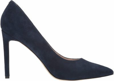 Dark Blue Suede Tatiana Pump