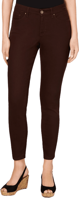 Dark Chocolate Curvy-Fit Skinny Jeans-Style & Co