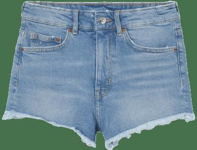 Denim Blue High Waist Shorts-H&M