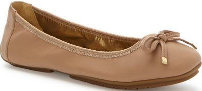 Driftwood Nappa Leather Halle 2.0 Ballet Flat-Me Too