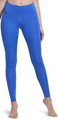 Dusty Blue High Waist Yoga Pants-TSLA