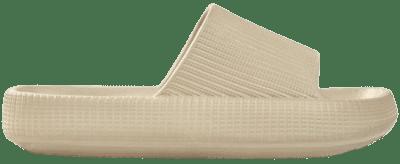 Ecru Textured Flat Sandals-Bershka