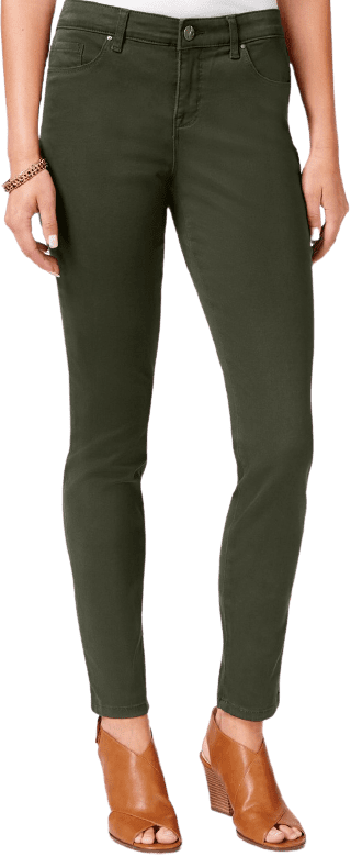 Evening Olive Curvy-Fit Skinny Jeans