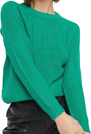 Fresh Green Round Neck Sweater-b.Young