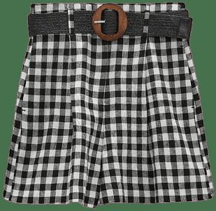 Gingham Shorts-Zara