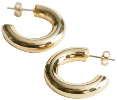 Gold Chunky Open Hoop Earrings-& Other Stories