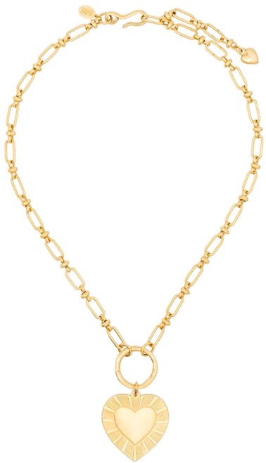 Gold-Plated The Best Is Yet To Come Heart Necklace-Brinker & Eliza
